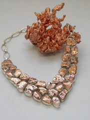 Copper Nugget Necklace 1
