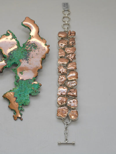 Copper Nugget Bracelet 3