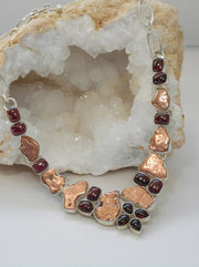 Native Copper and Garnet Necklace
