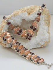 Native Copper and Garnet Bracelet