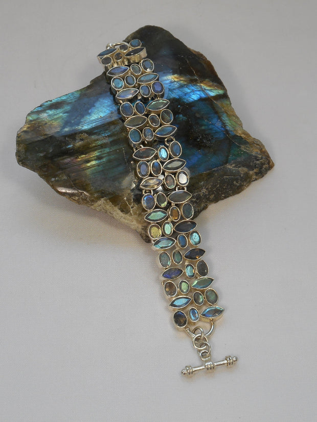 Faceted Labradorite Bracelet