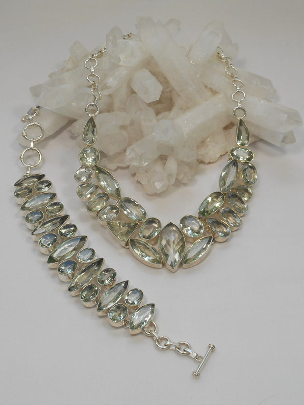 *Green Amethyst Quartz Necklace 1