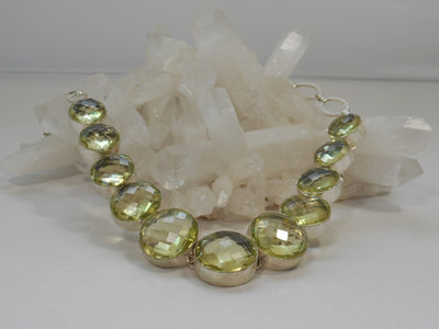Green Amethyst Quartz Necklace 3