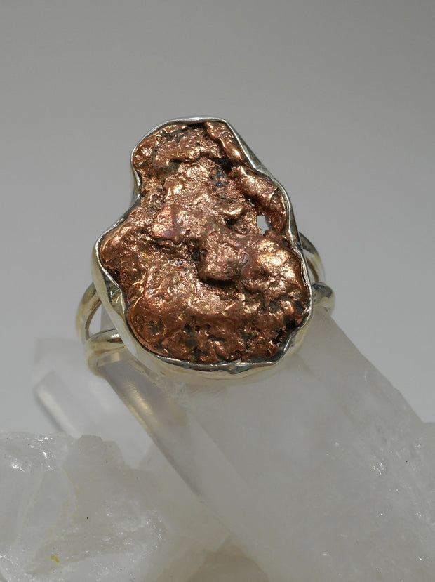 Copper Nugget Ring 1
