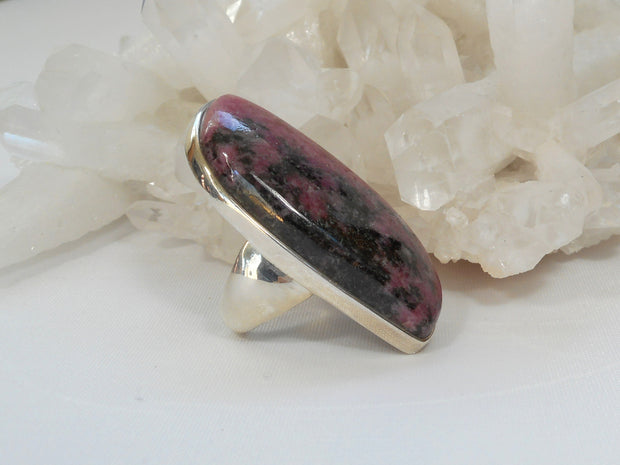 Rhodonite and Sterling Ring 1