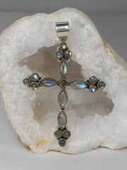 *Labradorite Jewelled Cross