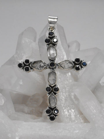 Herkimer Diamond Jewelled Cross