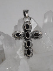 Black Onyx and Sterling Cross 2