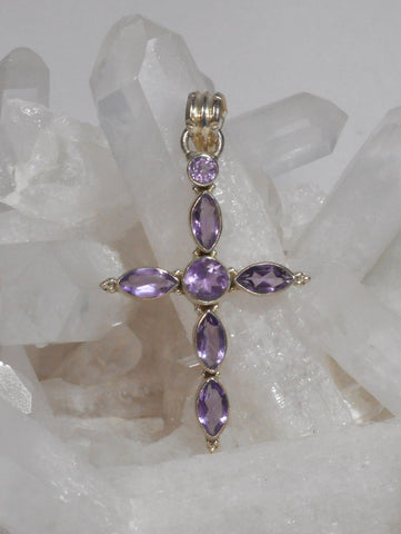 Amethyst Jewelled Cross 2