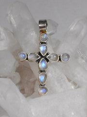 *Moonstone Jewelled Cross