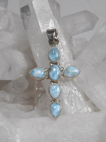 *Larimar Jewelled Cross