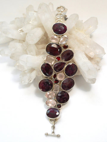 Ruby and Garnet Bracelet 1 with Morganite