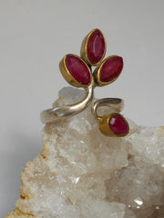 Ruby and Sterling Ring 9