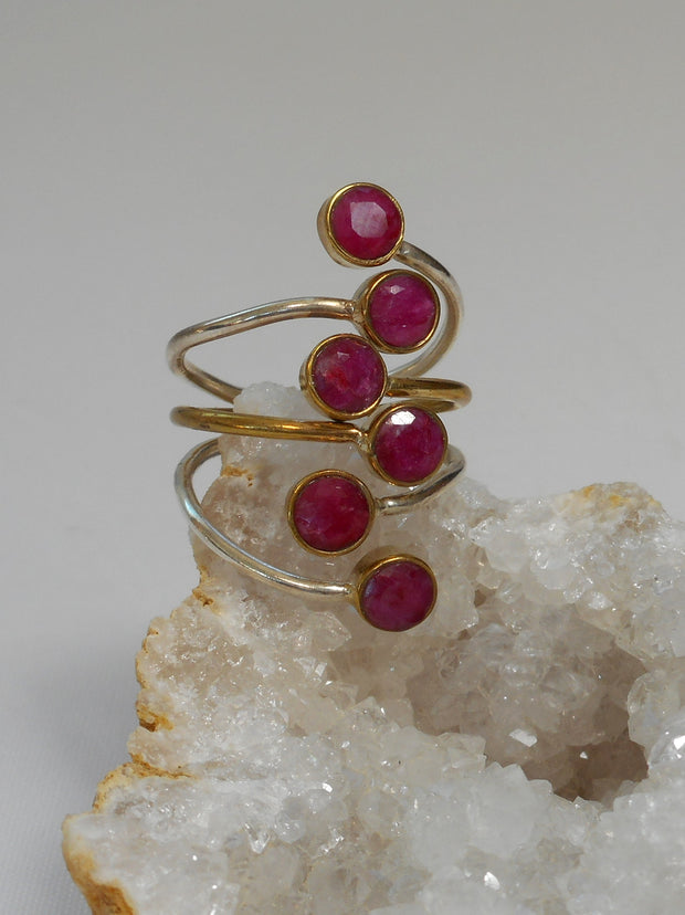Ruby and Sterling Ring 8