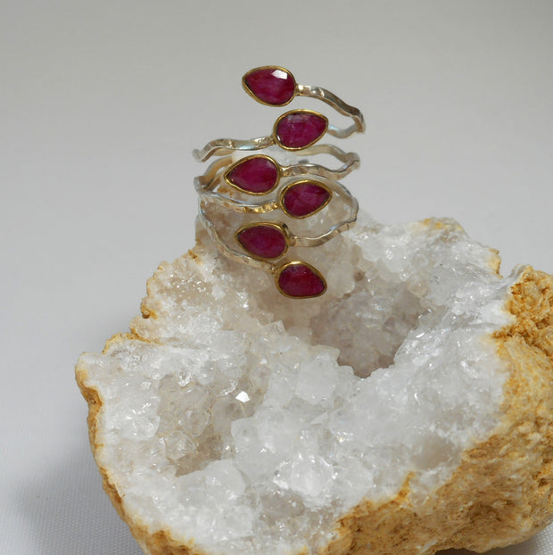 Ruby and Sterling Ring 7