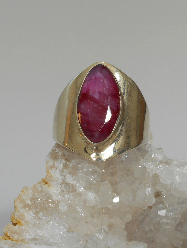 Ruby and Sterling Ring 6