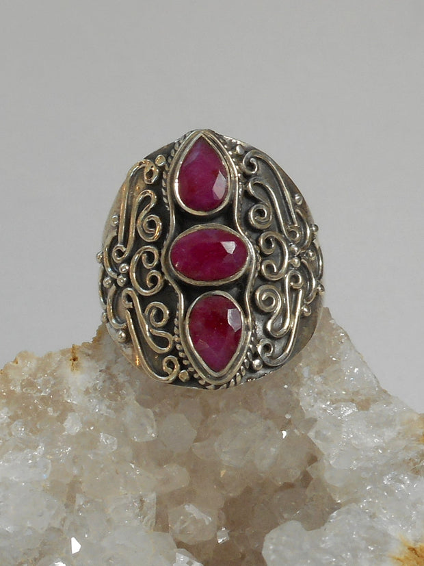 Ruby and Sterling Ring 4
