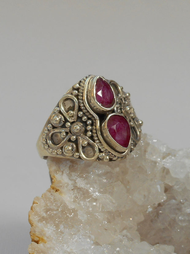Ruby and Sterling Ring 5