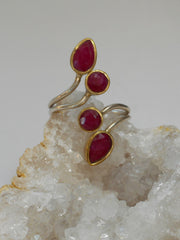 Ruby and Sterling Ring 3