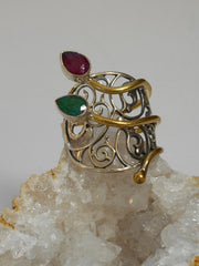 Ruby and Emerald Ring 1
