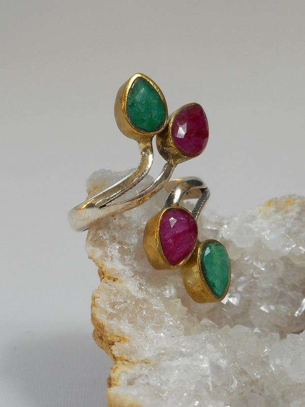Ruby and Emerald Ring 2