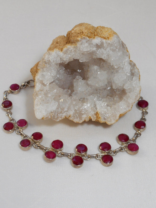 Ruby and Sterling Bracelet 2