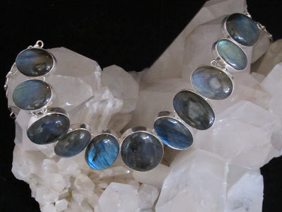 *Labradorite Oval Necklace 4
