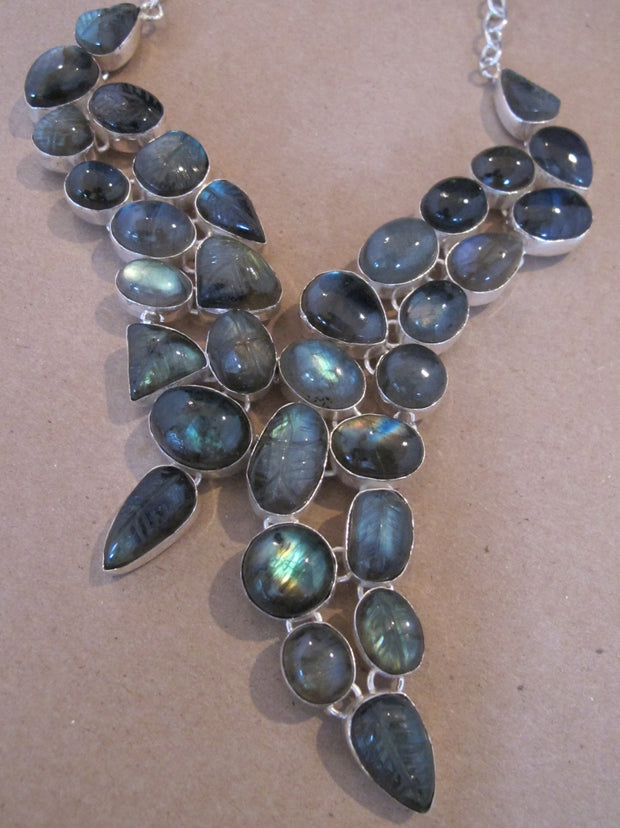*Labradorite Asymmetric Necklace