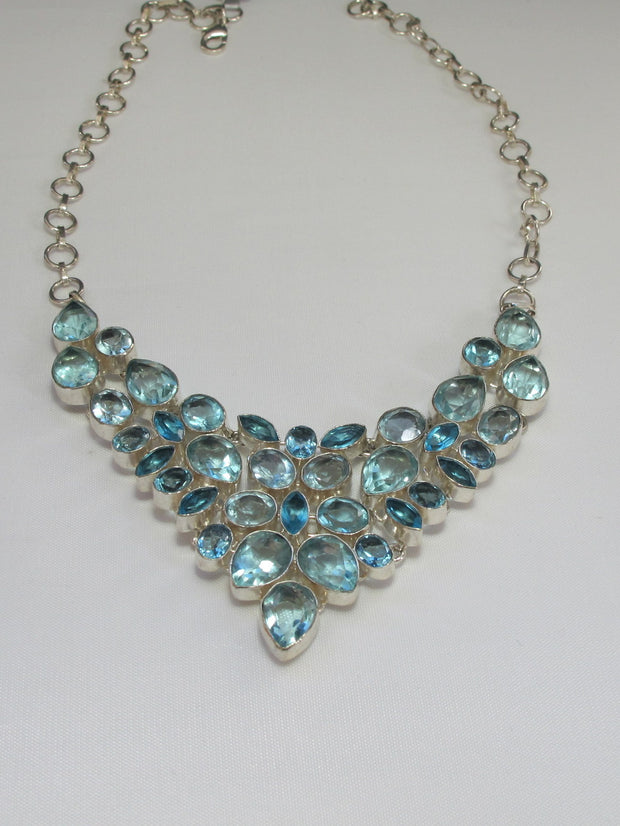 *London and Swiss Blue Topaz Necklace