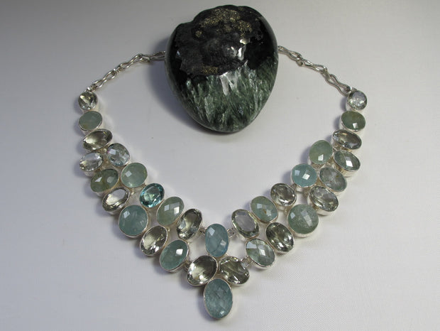 Green Amethyst Quartz Artisan Necklace 2