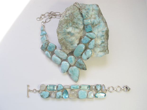 Large Larimar Necklace 4