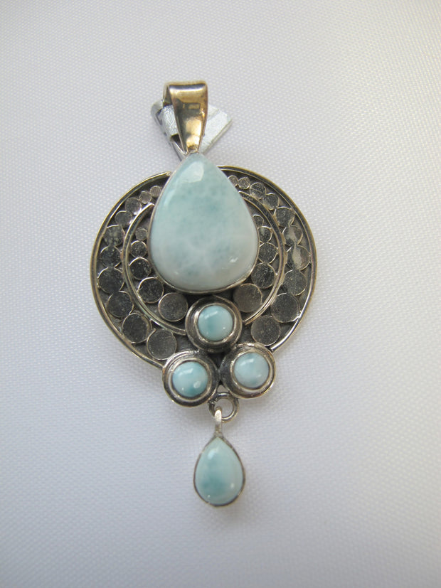Larimar and Sterling Pendant 1