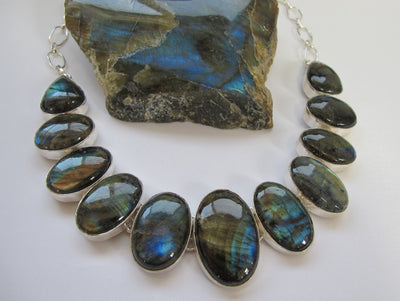 Labradorite Oval Necklace 3