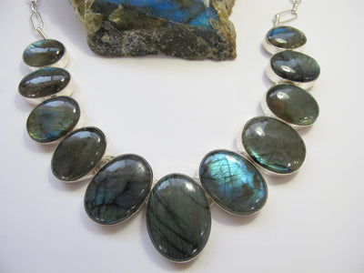 *Labradorite Oval Necklace 2