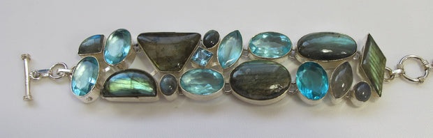 Labradorite and Blue Topaz Bracelet