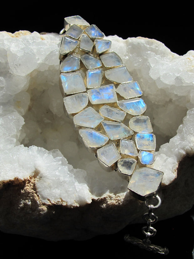 Moonstone Faceted Bracelet 1