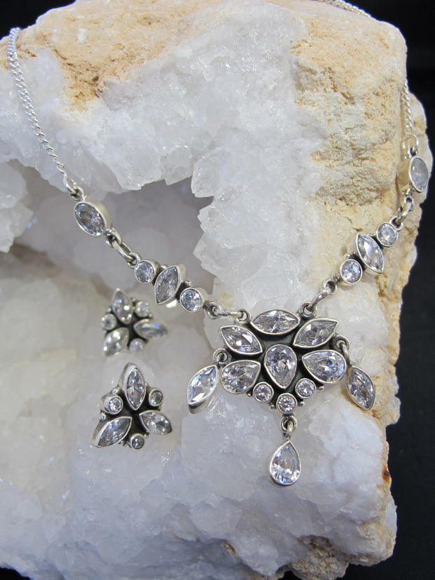 Delicate White Topaz Necklace 1