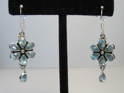 Blue Topaz Earring Set 1