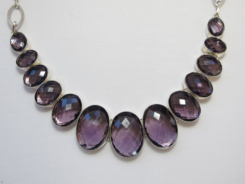 *Amethyst Quartz Necklace 1