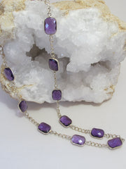 Delicate Amethyst Quartz Necklace