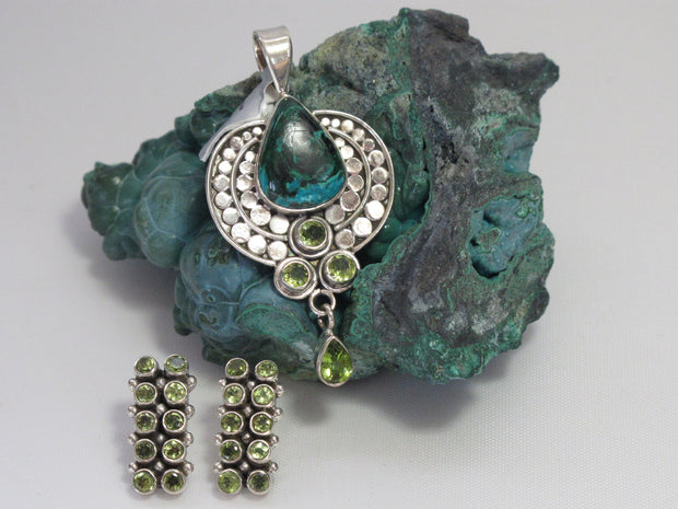 Peridot Earring Set 1