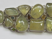 Prehnite Bracelet 4 with Tourmaline