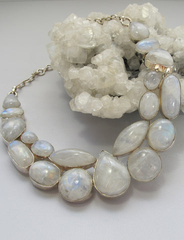 Moonstone Teardrop Collar 1