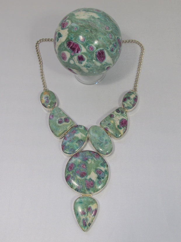 Ruby in Fuchsite Gemstones Necklace