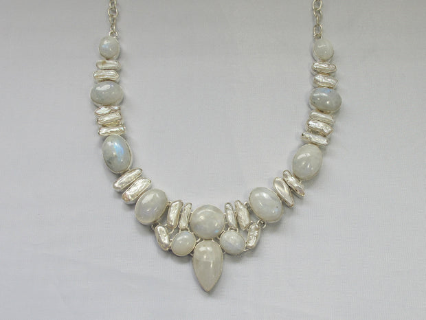 Moonstone and Pearl Necklace 1