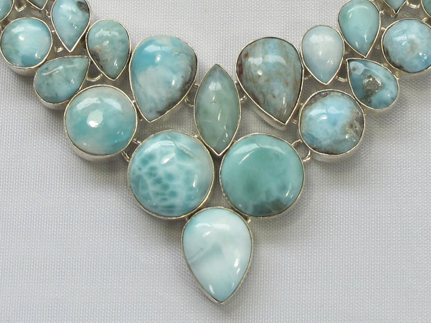 Large Larimar Necklace 3