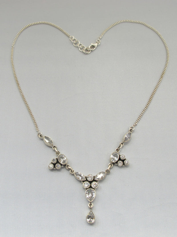 Delicate White Topaz Necklace 2