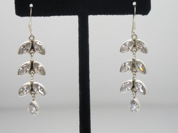 Delicate White Topaz Teardrop Earring Set