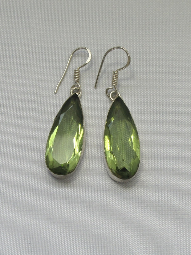 Peridot Teardrop Earring Set