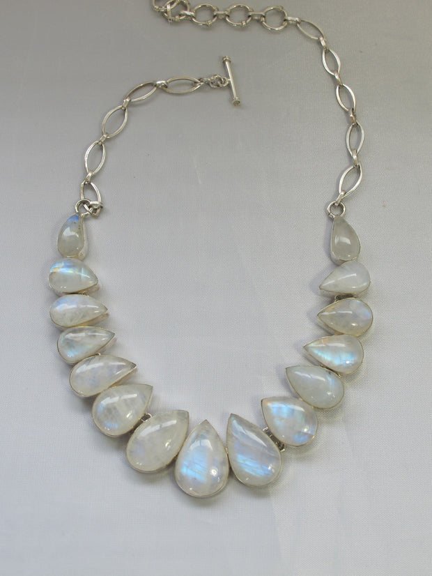 Moonstone Teardrop Collar 3